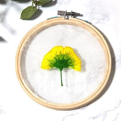 투명 꽃 식물 액자 틀 프랑스자수 패키지 도안 diy 세트 y
