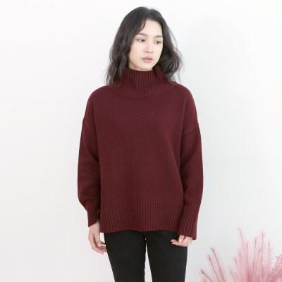 따뜻한 겨울니트_와인
