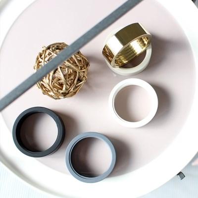링 액세서리-Brass  Copper  Silver  Chrom  Black  Gray  White