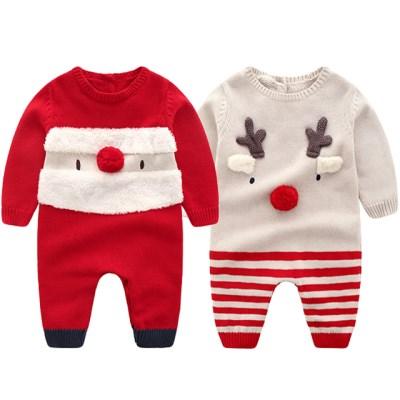 아기 산타와 루돌프 니트 우주복(6-36개월) 203705_(902613731)