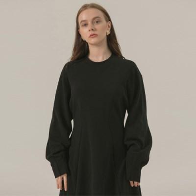 [브로우엔드] PIN TUCK RAGLAN DRESS - BLACK