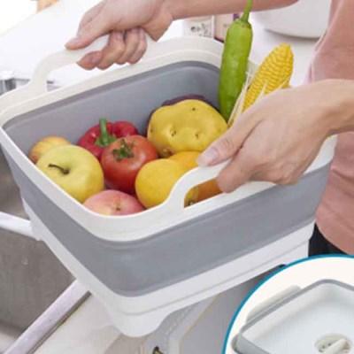 배수력 좋은 다용도 설거지통 바구니
