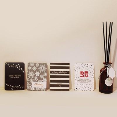 아이씨엘 크리스마스 카드 세트 - simple 8set