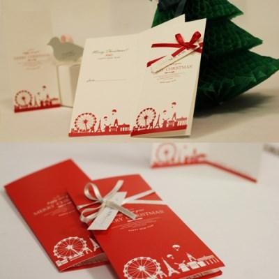 아이씨엘 크리스마스 카드-redwhite 4종세트