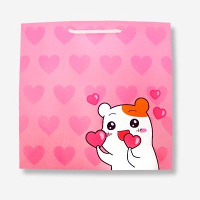 에비츄 종이 쇼핑백 (대)_핑크