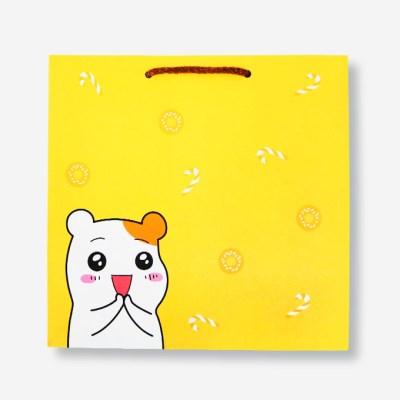 에비츄 종이 쇼핑백 (대)_옐로우
