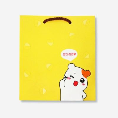 에비츄 종이 쇼핑백 (중)_옐로우