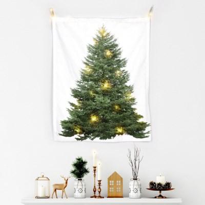 패브릭 포스터 크리스마스 베이직 트리 전구 세트_(1797512)