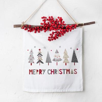 크리스마스 패브릭 포스터 베리 가랜더 트리프렌즈_(1797509)