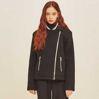 WOOL RIDER JACKET BLACK
