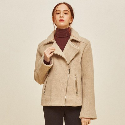 WOOL RIDER JACKET BEIGE