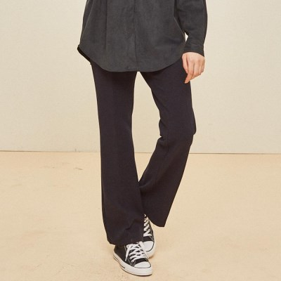 SIMPLE BOOTCUT SLACKS NAVY