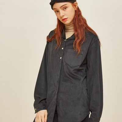 BETTER SUEDE SHIRT NAVY