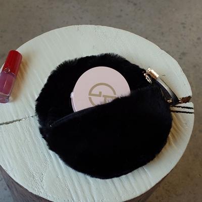 Fur Circle Black