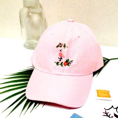 플라밍고 트로피칼 여자 캡모자 커플 프랑스자수 패키지 도안 DIY