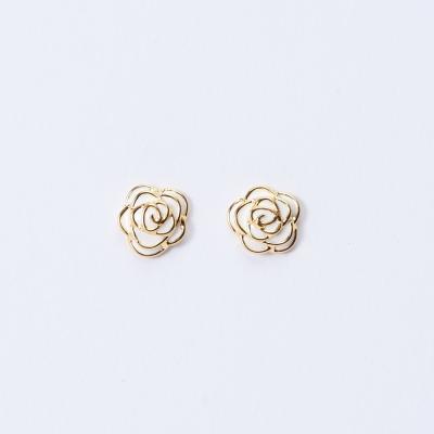 [925실버] 심플 로즈 귀걸이