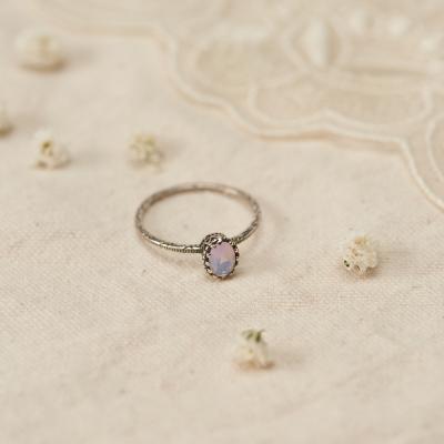 [925실버] 핑크 원석 반지