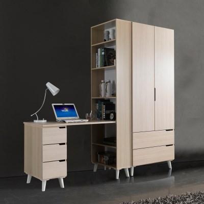 휴비 공부방 세트 H형 책상+2서랍 장롱 800_(1001455)