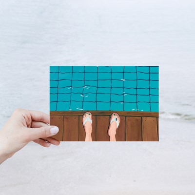 [Painter Hundred] 수영장 POSTCARD