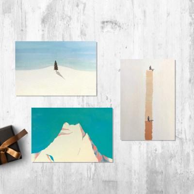 [Painter Hundred] Wintry Landscape POSTCARD