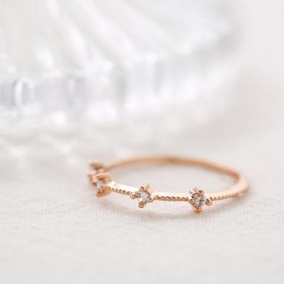 로즈골드 포 큐빅 반지