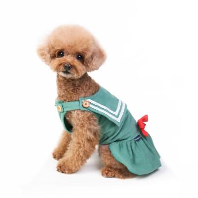 Sailor corduroy dress (mint)