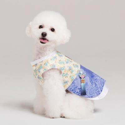 메종드독 강아지옷 애견 한복 블루로즈 쾌자_(1053171)