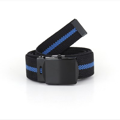 [ROTHCO] BLACK THIN BLUE LINE WEB BELT 웹벨트 군용 카모 벨트