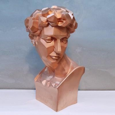 쿠퍼컬러 쥴리앙각 대형 석고상화분 65cm내외 리본2개