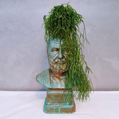 부식 히포크라테스  중형 석고상 화분 35cm 내외+리본