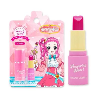 어린이화장품 플로릿 플라워링하트 내추럴 립스틱 01 핑크펑크