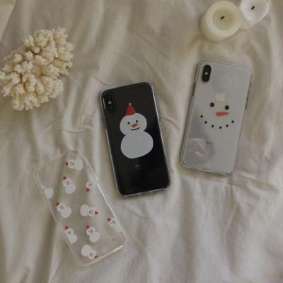 크리스마스 눈사람 젤리케이스