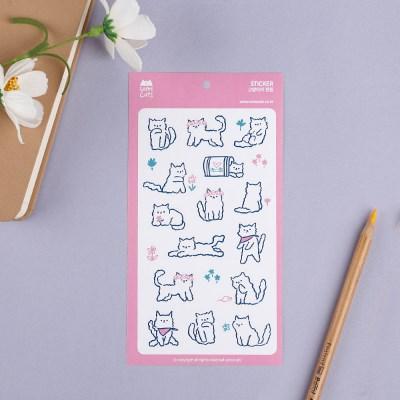 미드나잇시리즈_고양이의 정원 스티커