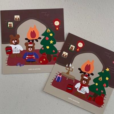 러브이즈기빙 하트베어 크리스마스(2ea)