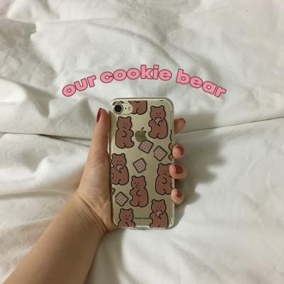 [뮤즈무드] our cookie bear (clear) 아이폰케이스