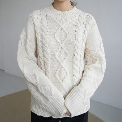 Plain cable knit
