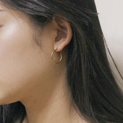 [2컬러]classic silver hoop earring