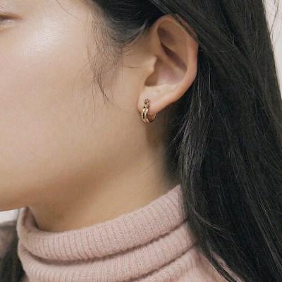 [2컬러]small classy hoop earring