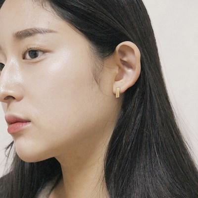 [2컬러]plat silver earring