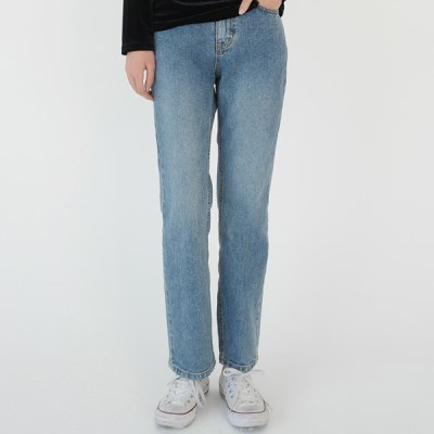 General straight denim pants