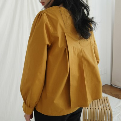 Slit point pleats blouse