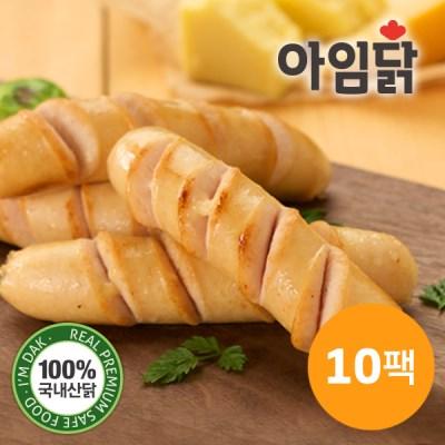 [아임닭] 닭가슴살 소시지 프랑크 트리플치즈 120g x 10팩