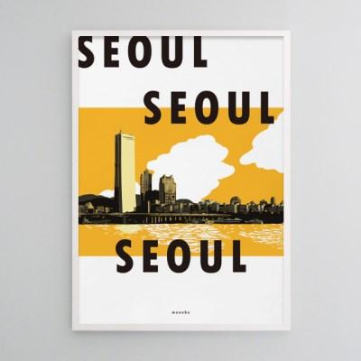 유니크 인테리어 디자인 포스터 M 서울 서울 서울