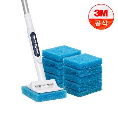 [3M]크린스틱 올인원 욕실청소용 롱핸들+리필 11입_(1613648)