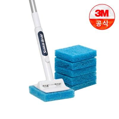 [3M]크린스틱 올인원 욕실청소용 롱핸들+리필 6입_(1613647