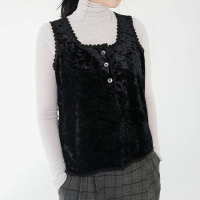 Velvet lace sleeveless