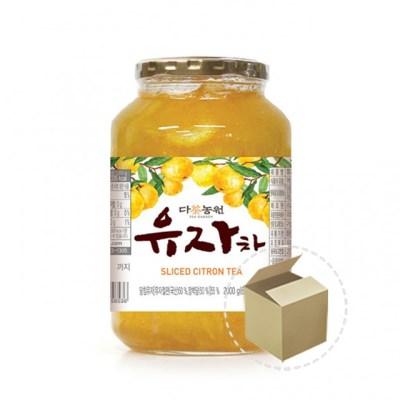 다농원 유자차 2kg 1박스(6개)_(732511)