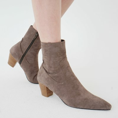 Wooden heel ankle boots