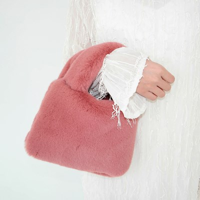 Fluffy mini tote bag