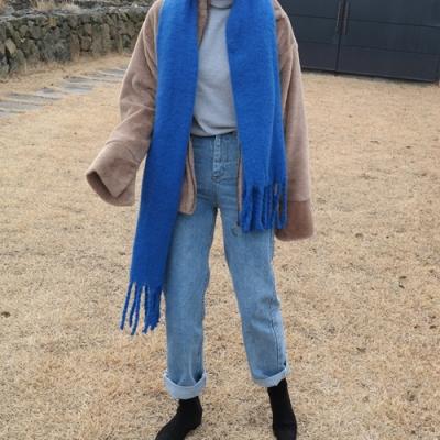 Wool mohair muffler(울15%)